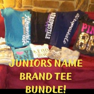 👚Juniors name brand 10 piece tee shirt bundle GUC